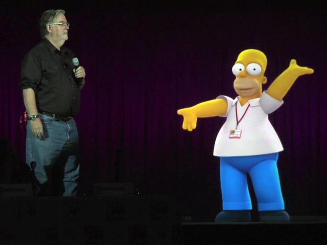 hologram-homer-simpson-talks-to-matt-groening-social